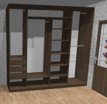 шкафа и длина вещей